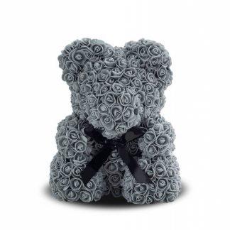 мишка из серых роз ведмедик із троянд