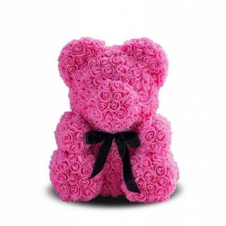 мишка из розовых роз ведмедик із троянд