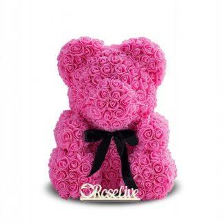 розовый мишка из роз купить