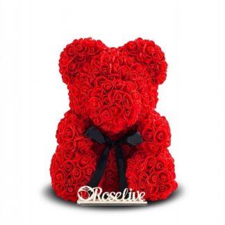 красный мишка из роз купить
