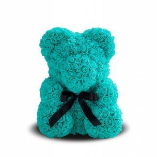 мишка из бирюзовых роз ведмедик із троянд