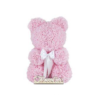 рожевий мишка из роз