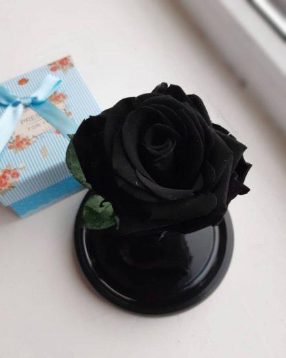 вечная роза в колбе черная купить киев украина