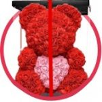 купить мишку из роз в коробке