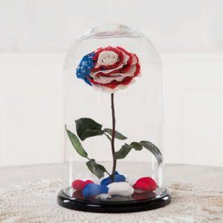 роза в колбе оригинальная американский флаг
